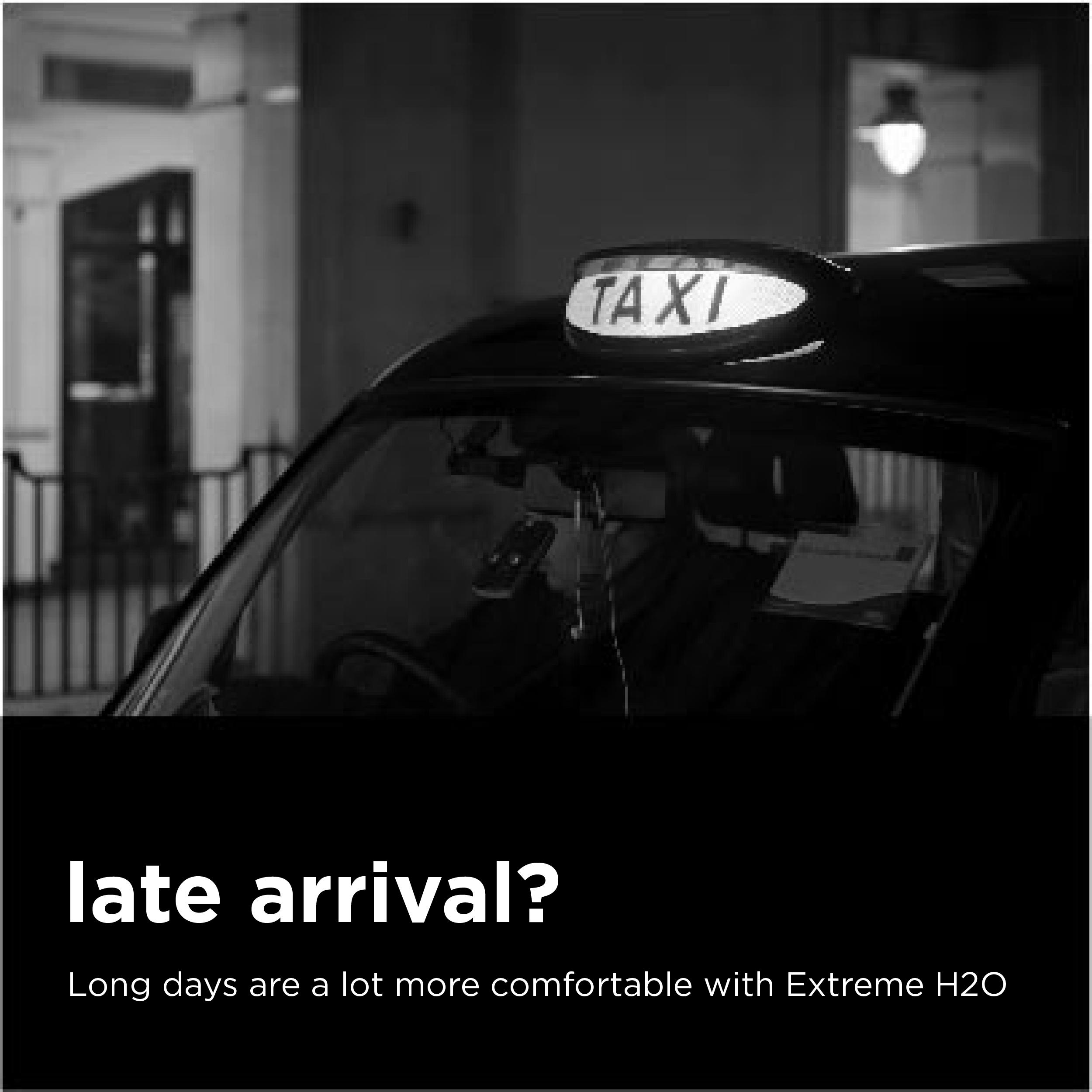 taxi cab at night