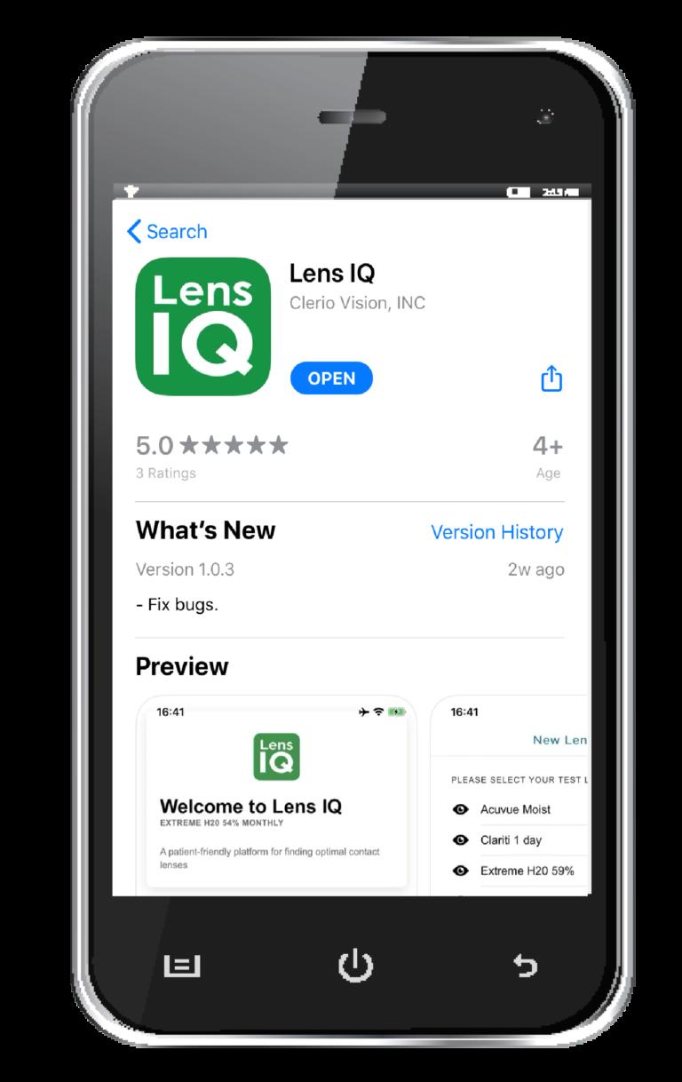 Lens IQ app on cell phone